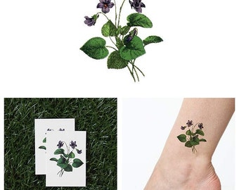 You're Turning Violet, Violet! - Temporary Tattoo (Set of 2)