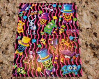 Vintage Lisa Frank Halloween Skull Stickers S198