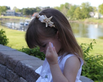 Starfish & Pearl Headband / Beach Wedding Headband /