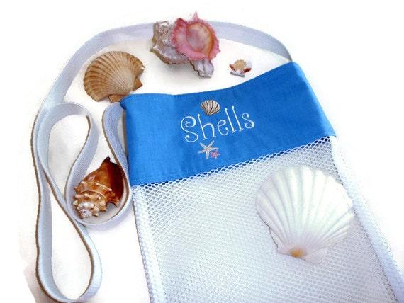 Beach Wedding Gift Bag Ideas: Beach Wedding Gift Seashell Collecting Bag By DonnaLeeBags