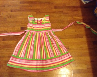 Striped Dress - Girls Size 4