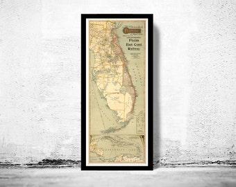 Vintage Map of Florida 1896