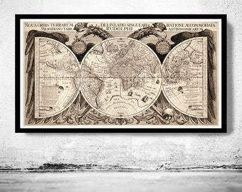 Old World Map Antique Atlas 1630