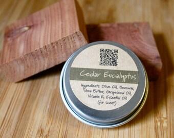 Cedar Eucalyptus Beeswax Lip Balm Tin