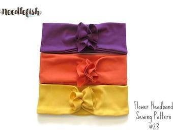 BABY FLOWER HEADBAND Sewing Pattern - Flower Headband Sewing Pattern - Easy Sewing Pattern - Adult Headband Sewing Pattern