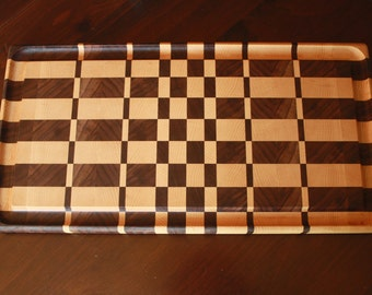 End Grain Cutting Board with Groove