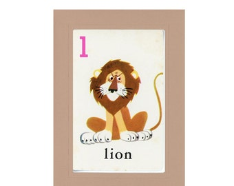 Flash Cards Lion Etsy