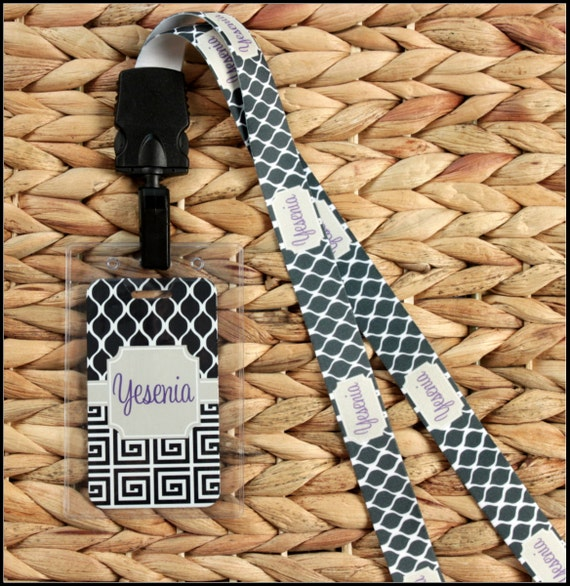 Custom Lanyard ID Holder Personalized Monogrammed Personalized Gift Gift Ideas Friends & Coworkers Nurse Accessories Logo Corporate Gift