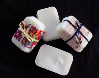 """Bar soap!  Fragrance and dye free!  """"Just like Grandma used to make but without the bacon bits."""""""