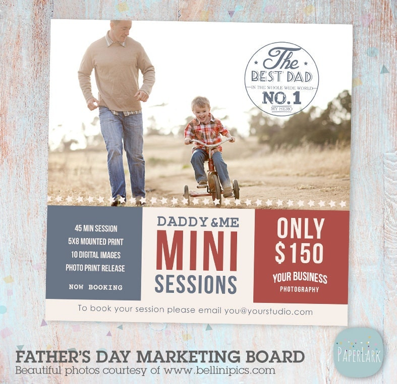 Father's Day Mini Session Template Photoshop IF004