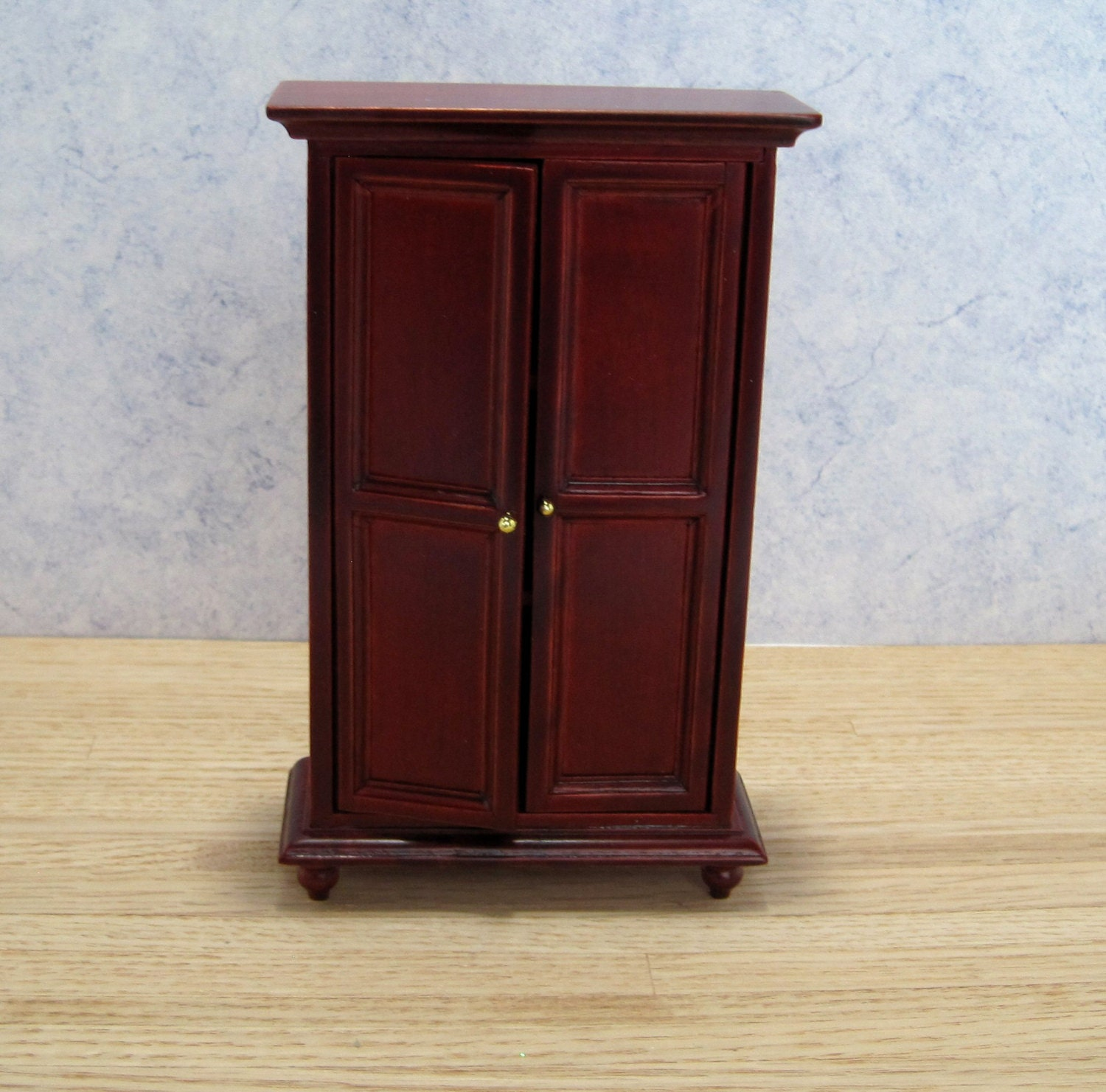 Vintage wardrobe armoire dollhouse miniature