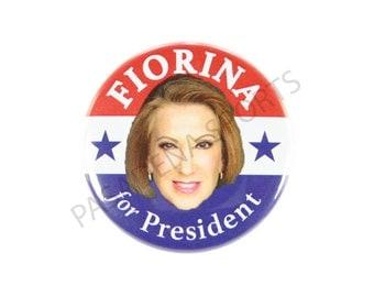"2016 CARLY FIORINA for PRESIDENT Campaign Button, 2.25"" Diameter cfs"