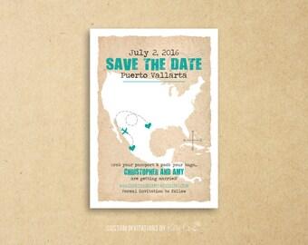Mexico Destination Save the Date | Wedding | Printable Digital File