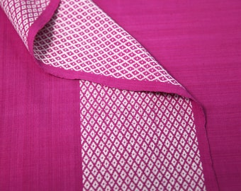 Bright Pink Fabric with White Border Design 100% Organic Cotton