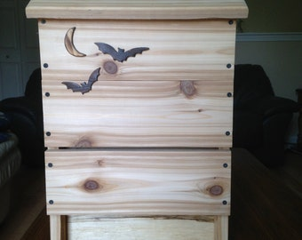 Handcrafted Cedar Bat House - Natural Mosquito Control - Conservation