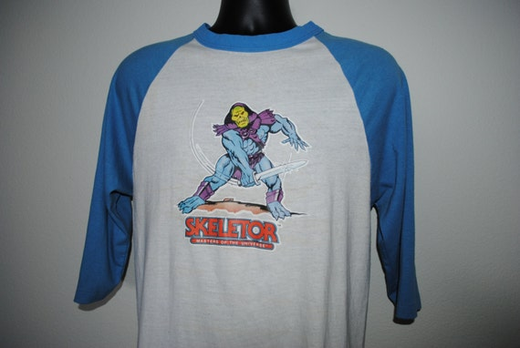 1983 skeletor rare vintage 80 39 s cult classic cartoon for Dingy white t shirts
