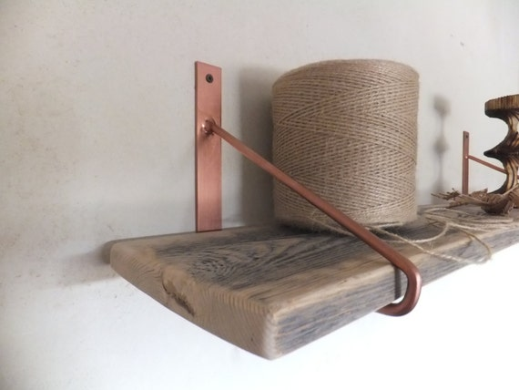Items Similar To Sale Rustic Wood Shelf With Steel