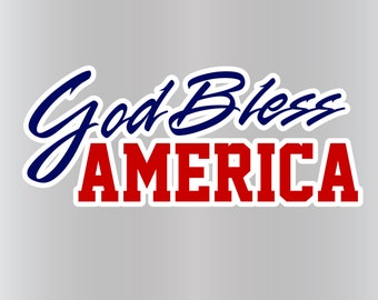 God Bless America Vinyl Decal Sticker for American Pride - Diecut-NO BACKGROUND