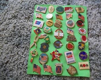 A Nice Lot of vintage Lapel Pins---Lot 4