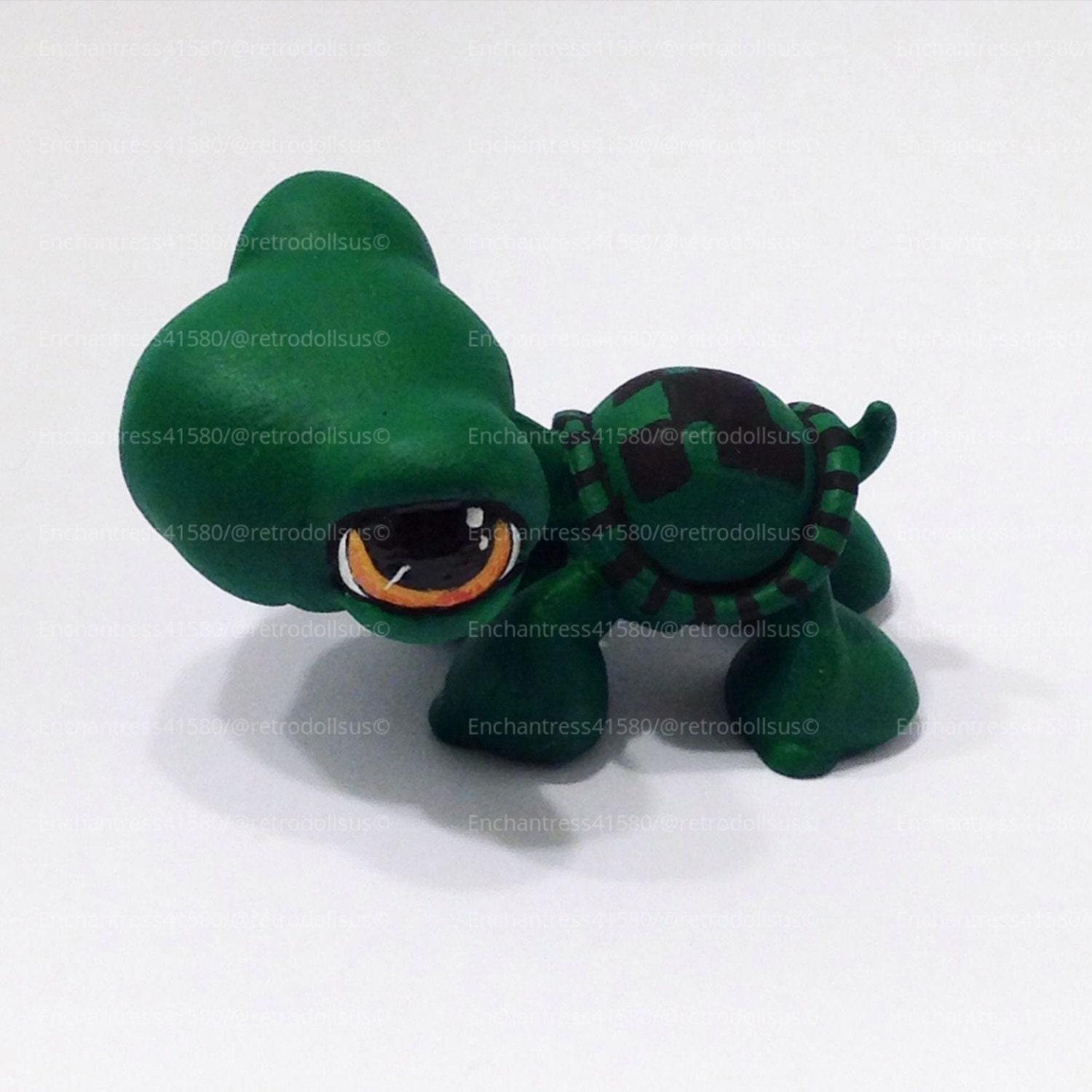 littlest pet shop turtle toy custom ooak lps tommy creeper