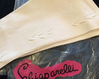 Vtg Schiaparelli White Gloves size 7.5 never used , Wedding