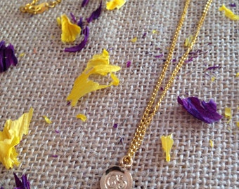 Gold Om Charm Necklace