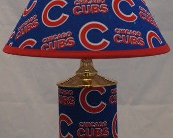 Chicago Cubs Lamp Etsy