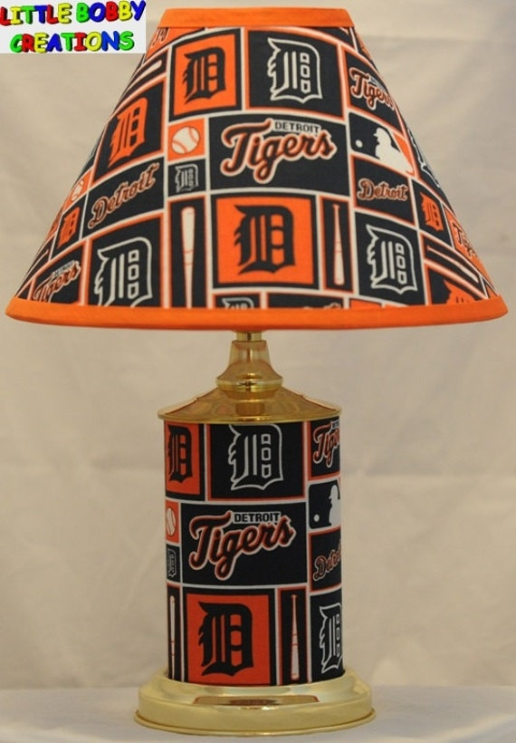 Baseball Mlb Detroit Tigers 12 Brass Plated Lamp And