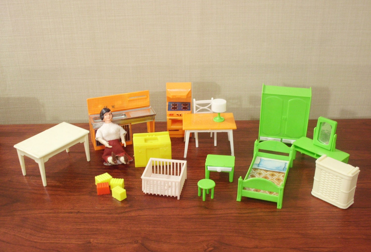 Lot Of Vintage Plastic Doll House Furniture Haute Juice