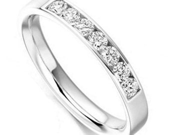 Eternity Band with Round H SI Diamonds, 0.35ct, 18K White Gold