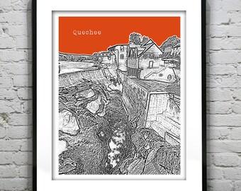 Quechee Vermont Skyline Poster Art Print VT Version 1