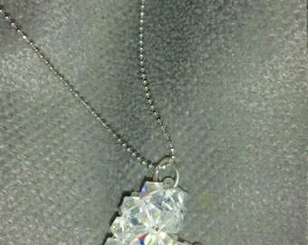 Crystal heart pendants