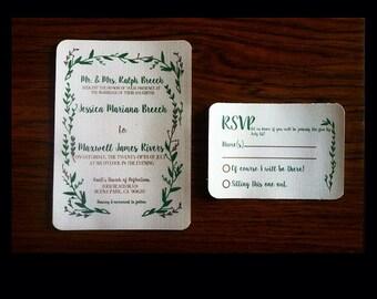 Floral Wedding Invitation, Rustic Wedding Invitation, Chic Wedding Invitation, Botanical Wedding Invitation