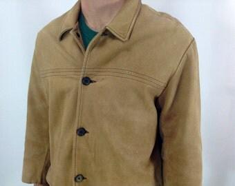 J Crew Leather Coat size medium