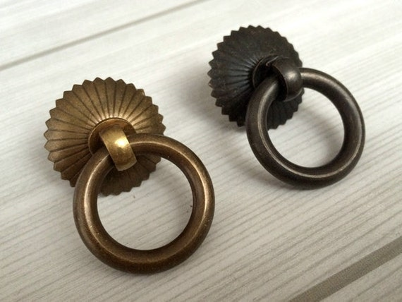 small drop ring pulls dresser pull knobs copper drawer knob pulls handles rings antique brass black kitchen cabinet pulls knob vintage style