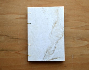Gold marbled notebook coptic binding