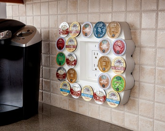 Cafe Wall Caddy - Space-Saving Coffee Pod Storage for K-Cups (BK002-01)