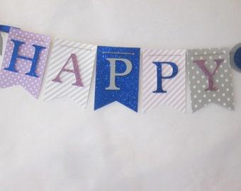 Happy birthday banner, first birthday decorations