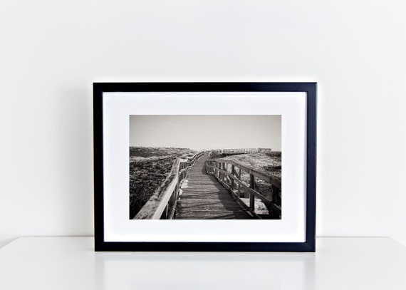 Neverending // plum island boardwalk, beach photography, long walk, black & white photography