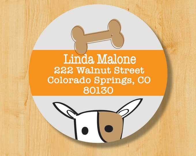 Dog Label | Dog Sticker | Return Address Sticker | Gift for Dog Lover | Personalized stickers | Round Address Label | Dog Grooming