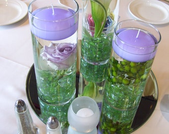 6 Lavender Floating Candles,Available in 20 Colors