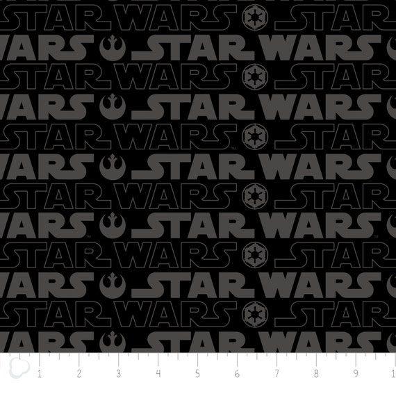 star wars 3 logo in black camelot fabrics classic star