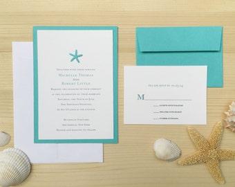 Starfish Beach Wedding Invite