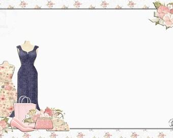Fashion Boutique Notecard - digital