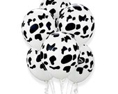 """Top Quality 11"""" COW PRINT Balloons, 25 Count - by Celebration Lane"""