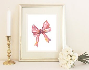 Watercolor bow