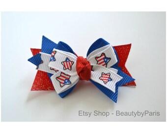 Patriotic Boutique Stack - Dog Bow