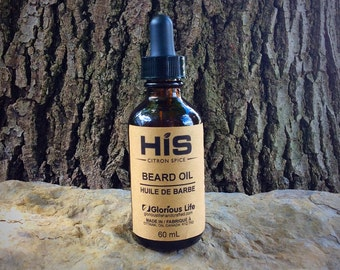 HIS Beard Oil, Beard Conditioner, Beard Softener, Vegan Beard Oil, Beard Tonic,  Beard Treatment, Beard Grooming Oil, Beard Products,