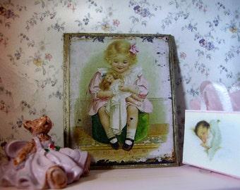 Pretty Girl Miniature Wooden Plaque