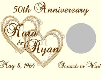 30 Heart Anniversary Scratch Off Cards